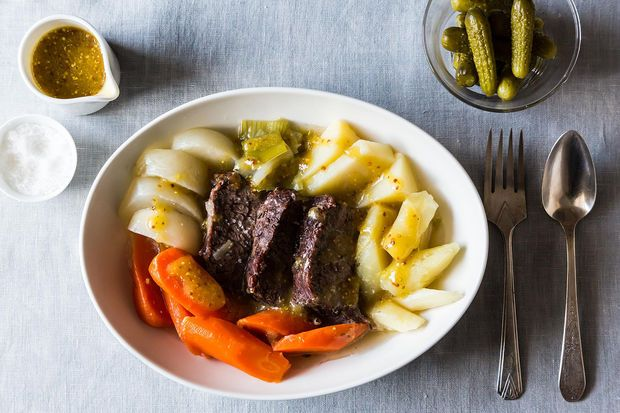 Pot-au-Feu — short ribs braised with root vegetables, and served ...