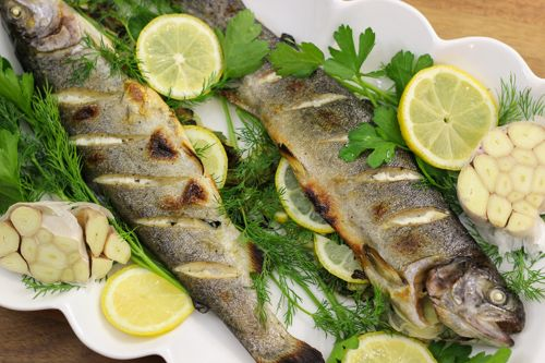 Roasted Whole Trout With Lemon and Herbs | Recipe