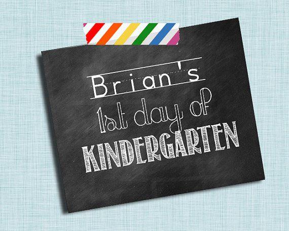Custom first day of school photo op sign #backtoschool