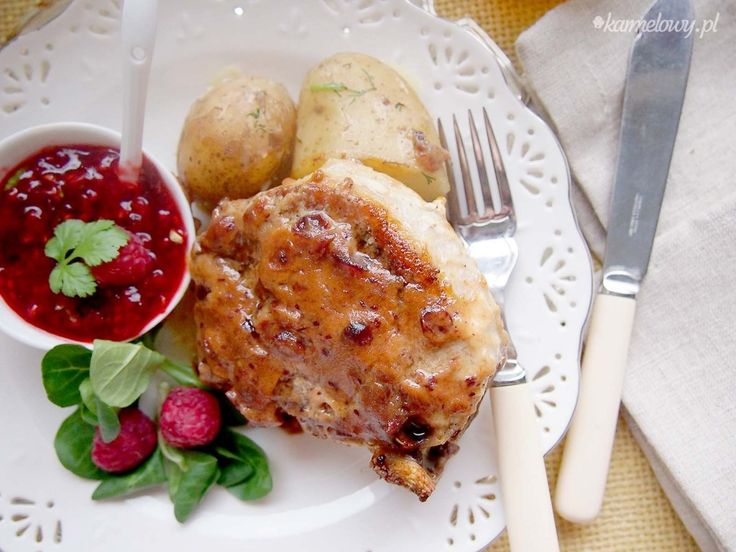 Pork chops with raspberry cilantro sauce | Delicious dinners | Pinter ...