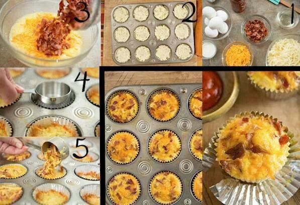 Bacon and eggs cupcake | Recipes food | Pinterest