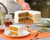 Carrot-Orange Layer Cake with Orange–Crème Fraîche Frosting