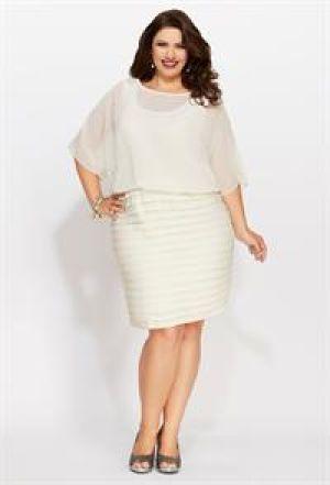 Plus size white dresses under 100