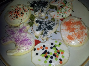 Halloween Sugar Cookies with Cream Cheese Frosting!