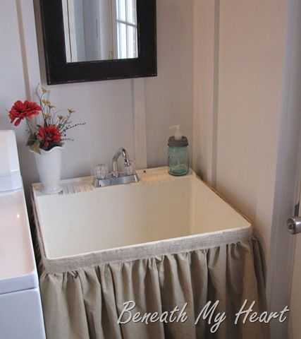 Laundry Sink With Cover : Great way to cover the utility sink in laundry room. Im going to do ...