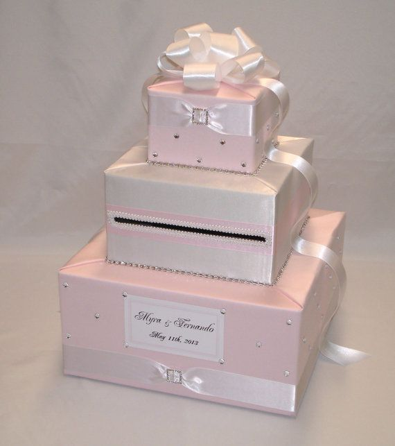 Indian Wedding Gift Card Box : Romantic elegant Wedding Card Box Card Boxes Pinterest