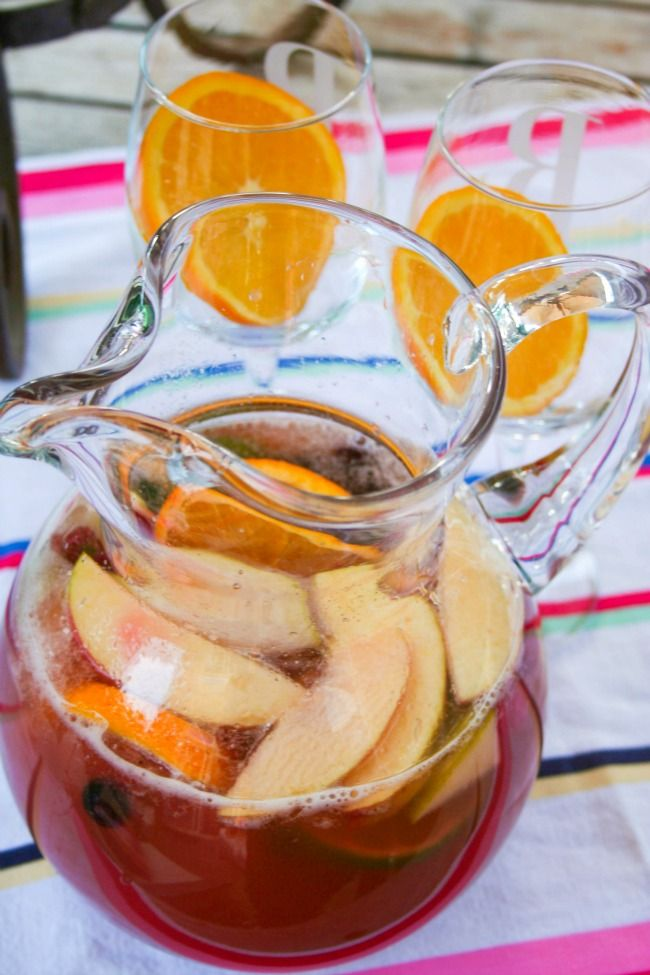 Non-Alcoholic Sangria | Kids' Party Ideas | Pinterest