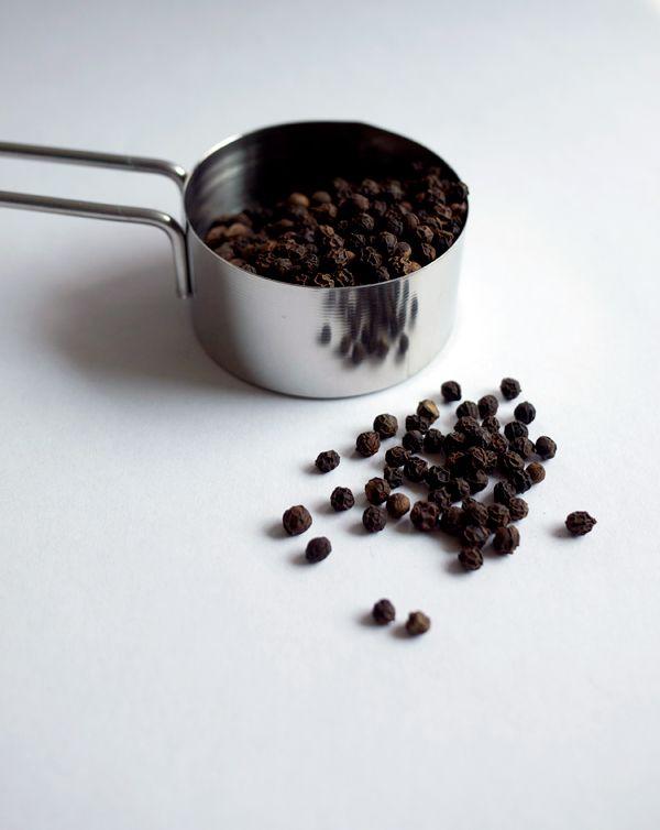 Black Pepper Syrup 1 cup water 1 cup sugar 1/4 cup black peppercorns ...