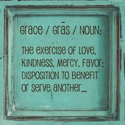 He gives grace to the humble.