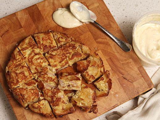 Salt and Vinegar Spanish Tortilla with Quick Cheaty Allioli | Recipe