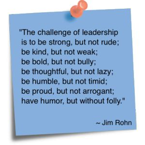 What is your biggest challenge as a leader? Jim Rohn Quote! #business #motivation