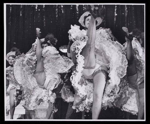 classic cancan: beneath the surface | black and white