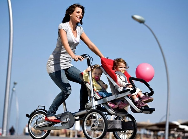 First...this stroller/ bike is awesome. Second, the represents being a mom and still finding ways to take control of health and fitness.
