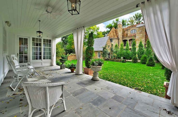 Slate covered porch outdoor pinterest for Covered porch flooring options