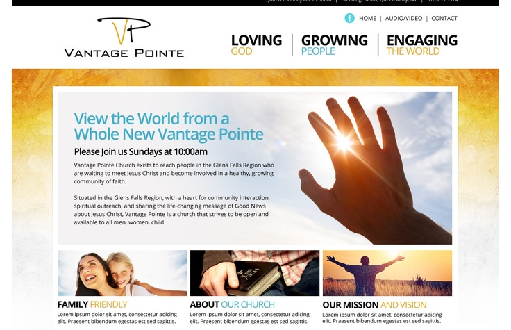 Church Website Designs Website Design Pinterest