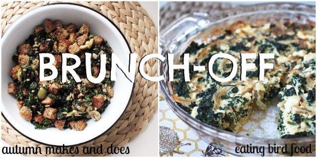 Kale Salad Panzanella & Kale And Feta Crustless Quiche
