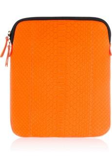 Emilio Pucci neon python iPad case.