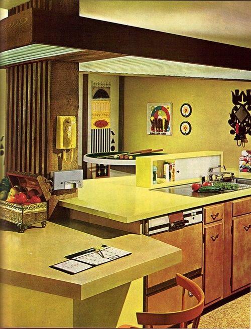 1960s Kitchen Design Retro Vintage Decor Pinterest