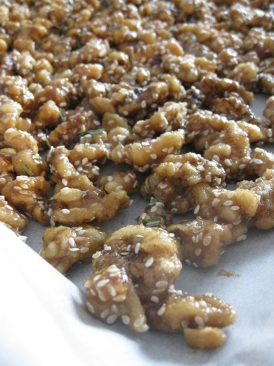 Brown Sugar Rosemary Walnuts | one wooden spoon | Pinterest