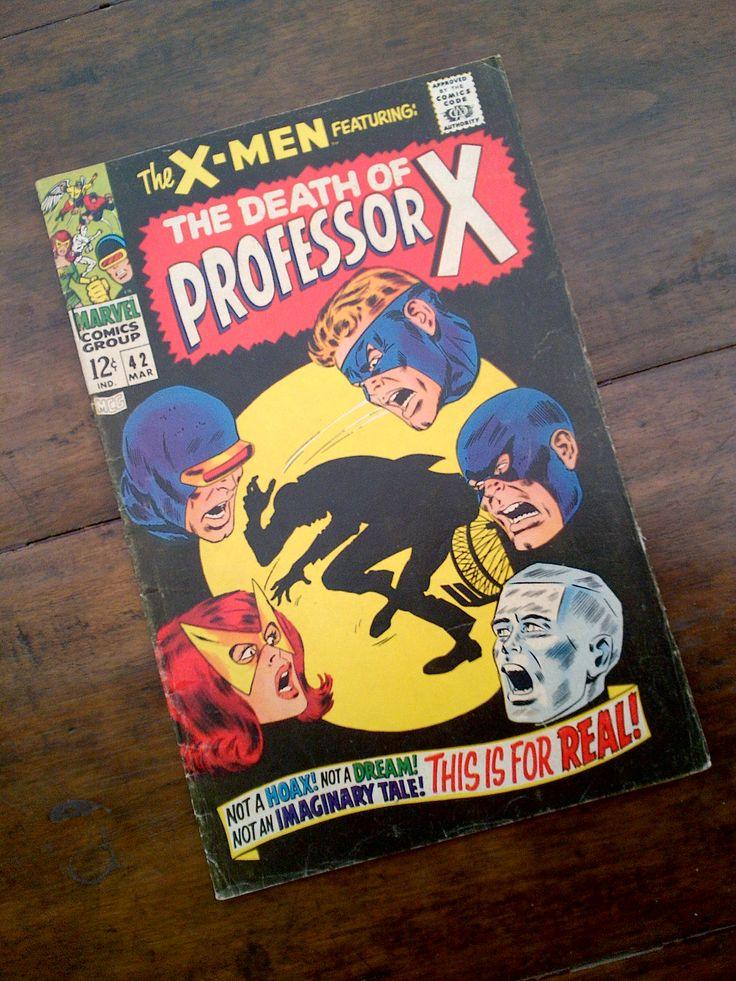 X Men : the death of Professor X  Marvel comic