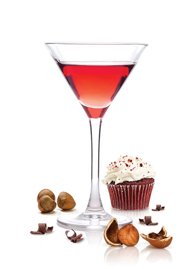 ... as a Red Velvet cupcake, except of course the martini version