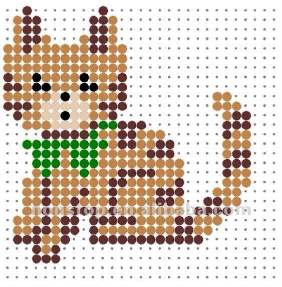 Cute kitty | Hama Perler Bead Patterns | Pinterest
