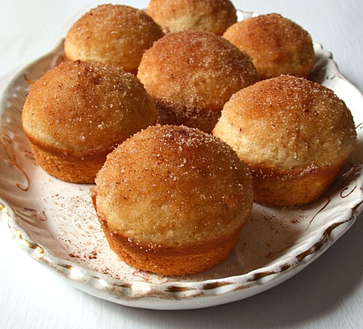 Cinnamon Sugar Coffee Cakes. They look like cute donuts. Oh bliss!