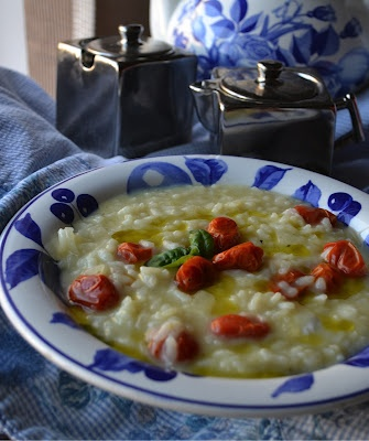 Risotto with Buffalo Mozzarella, Roasted Tomato and Basil Oil from ...