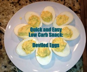 Quick and Easy Low Carb/Paleo Snack - Deviled Eggs