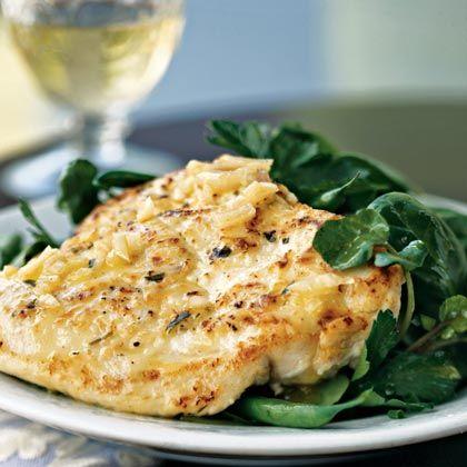 Chicken Scaloppine with Herb Salad | Chicken Tonight | MyRecipes.com