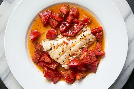 Cod Sautéed in Olive Oil with Fresh Tomatoes Recipe on SimplyRecipes ...