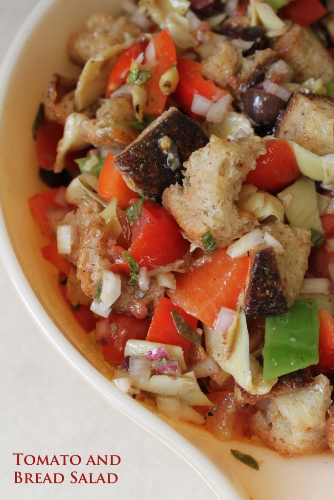 tomato and bread salad | On The Side Please | Pinterest