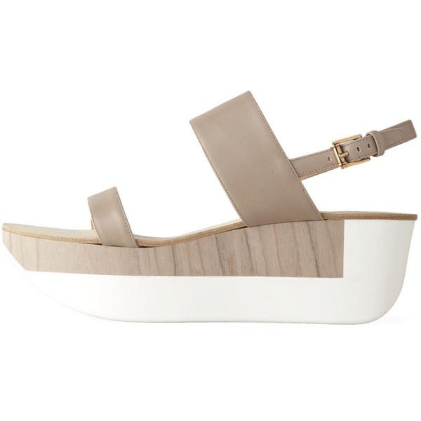 Jil Sander 2 Strap Platform Sandal found on Polyvore