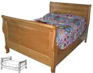Woodworking Plans Sleigh Bed