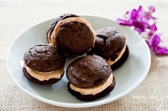 chocolate peanut butter whoopie pies | Cookies | Pinterest