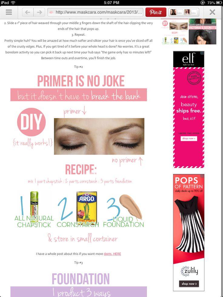 Easy cheap primer hair nails pinterest