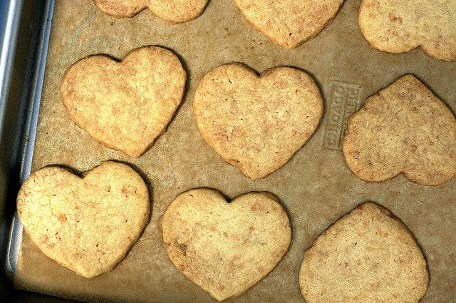 toasted coconut shortbread hearts by smitten, Dial way back on the ...