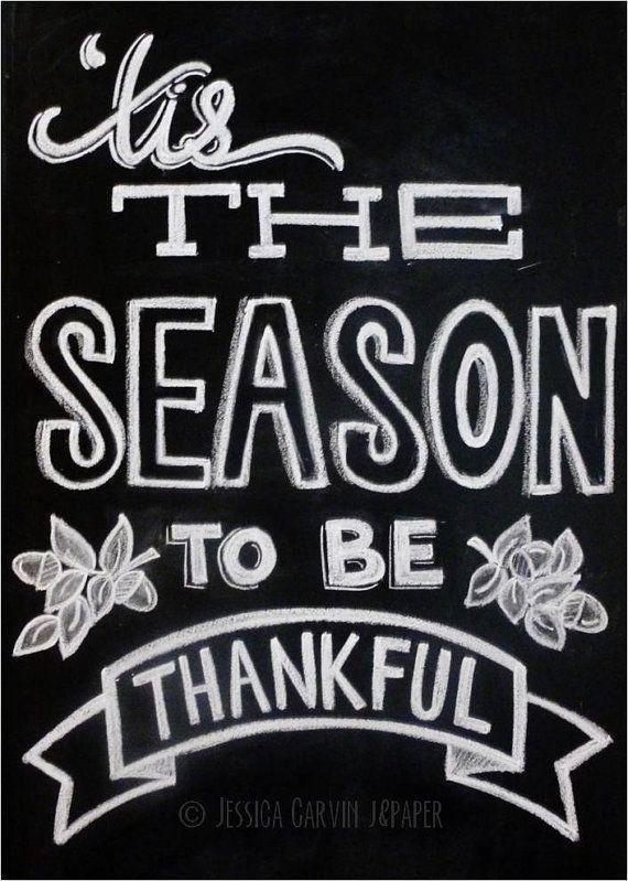 Tis The Season To Be Thankful - Thanksgiving Decor
