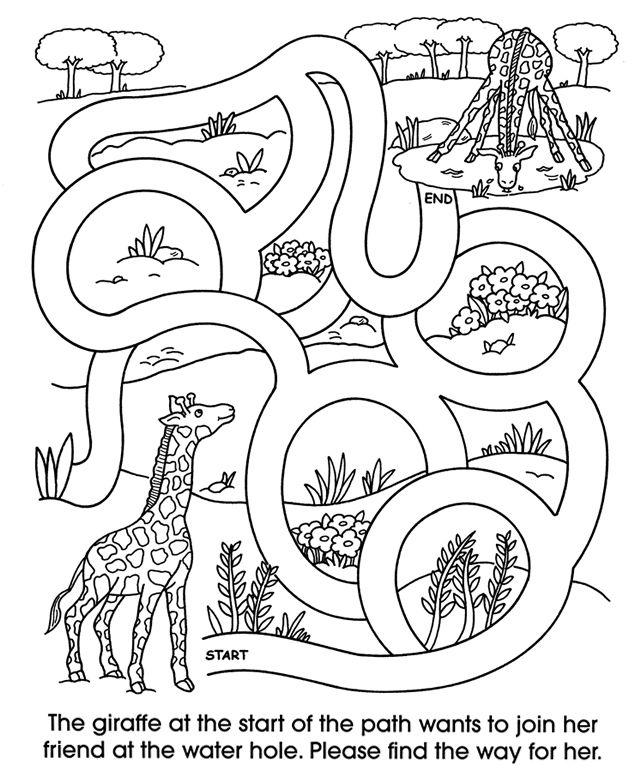 Le Zoo Preschool Printables Mazes Images Pinterest