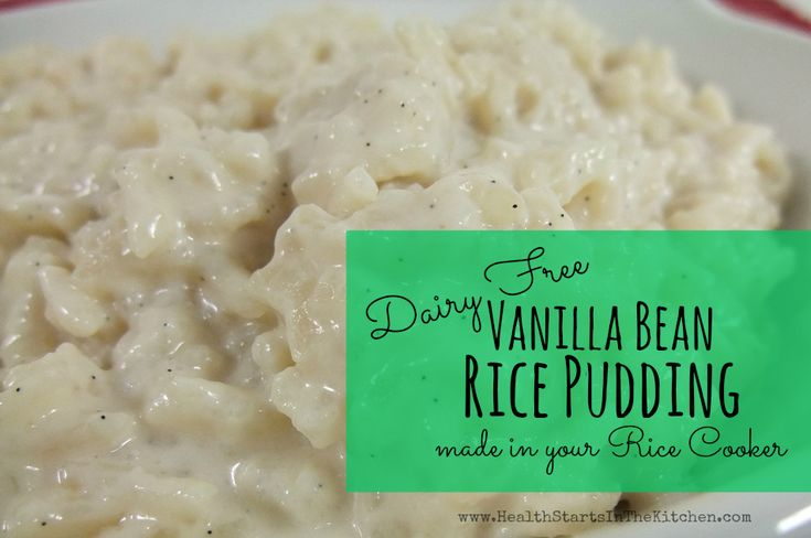 vanilla bean rice pudding (d/f) | G/F D/F LS Pudding & Pie -Eh! | Pi ...