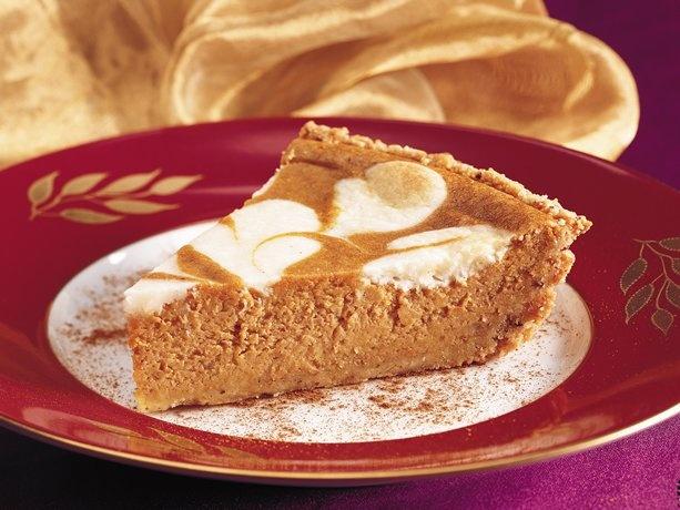 Pumpkin-Cream Cheese Pie with Cookie Crust | Recipe