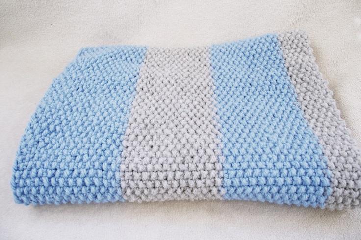 seed stitch blanket for baby boy Crafty crafts Pinterest