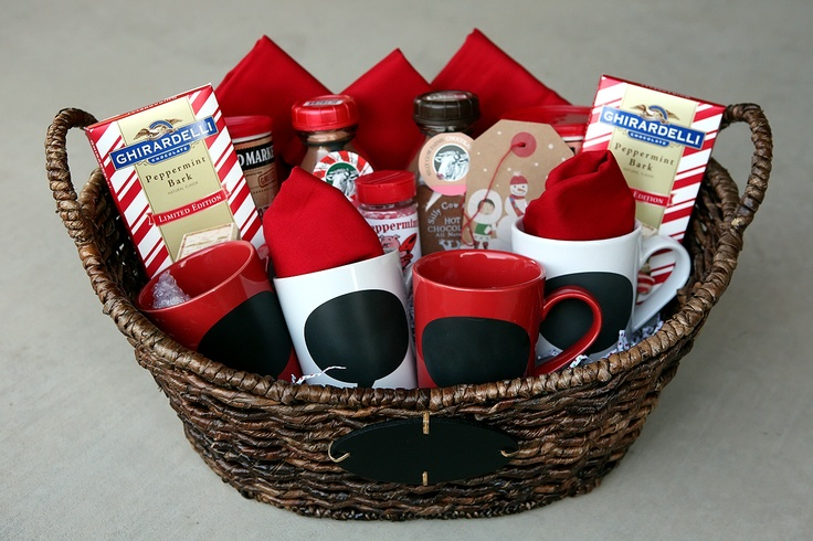 Hot chocolate basket gifts pinterest - Gift ideas with chocolate ...