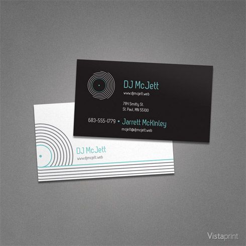 Black DJ Business Cards Vistaprint