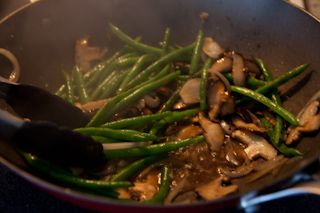 Green Bean and Shiitake Mushrooms | Recipe