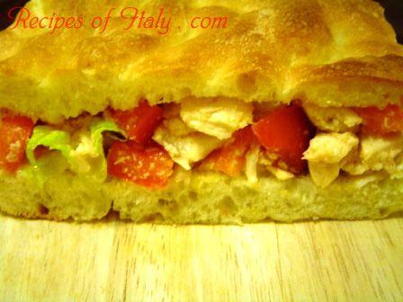 Traditional Italian Chicken Salad Sandwich (Panino con Insalata di ...