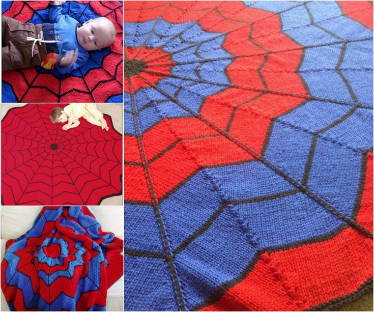 Free Spiderman Knitting Patterns : Spiderman Blanket - Free Pattern Best Crochet & Knitting Projects