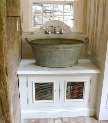 Wash Tub Vanity : washing tub as bathroom sink For the Home Pinterest