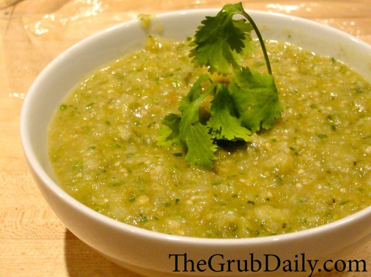 Roasted Tomatillo Salsa Verde | Food | Pinterest