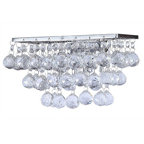 Crystal Wall Lights With Pull Cord : Litecraft Crista Chrome Bathroom Wall Light at Debenhams.com - Wall lights, LED bathroom ...